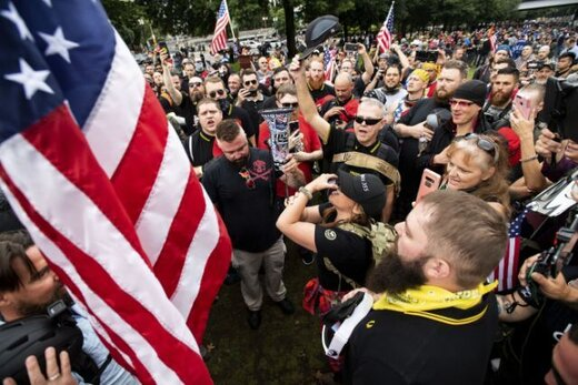 حامیان و مخالفان ترامپ در پورتلند به جان هم افتادند