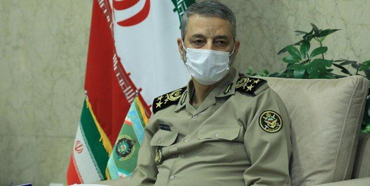 واکنش فرمانده کل ارتش به موشک باران اسرائیل توسط نیروهای مقاومت