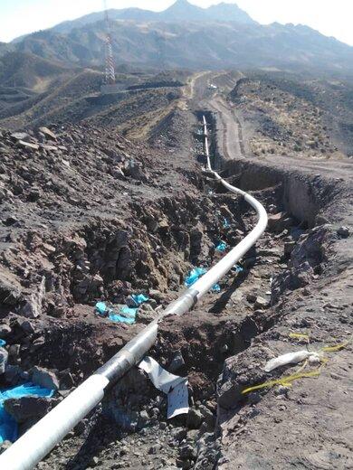 تعویض پوشش خط لوله در مناطق صعب العبور منطقه شمالشرق