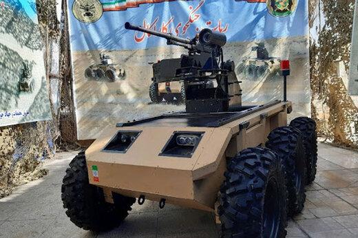 ببینید | ارتش جمهوری اسلامی رونمایی کرد:ربات جنگجوی کاراکال و لانچر موشک