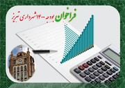 فراخوان بودجه سال ۱۴۰۰ شهرداری تبریز منتشر شد