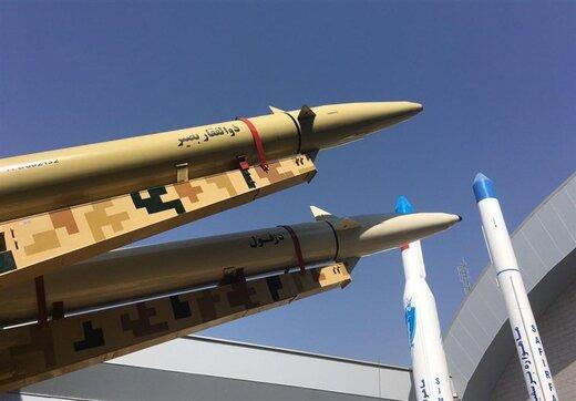 نشانه گیری موشک ایرانی به سمت شناورهای آمریکایی /«ذوالفقار بصیر»؛ برد موشک های بالستیک سپاه را 2 برابر کرد +عکس