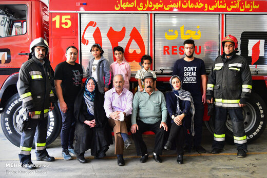 خانواده مردان آتش نشان