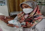 نجات جان نوزاد نارس ۲۶ هفته ای با مشکل حاد تنفسی در بیمارستان دهدشت