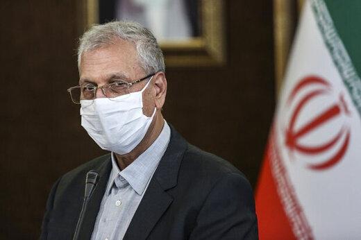 اقدام ربیعی در اولین روز اجباری شدن ماسک در تهران +عکس