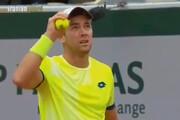 ببینید | شنیده شدن صدای انفجار در مسابقات تنیس آزاد فرانسه
