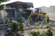 ببینید | تخریب بیش از ۳۰ ویلای غیر مجاز در نوشهر