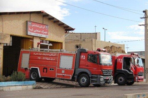 استقرار ۱۰خودروی آتش نشانی در شهرکهای صنعتی قزوین