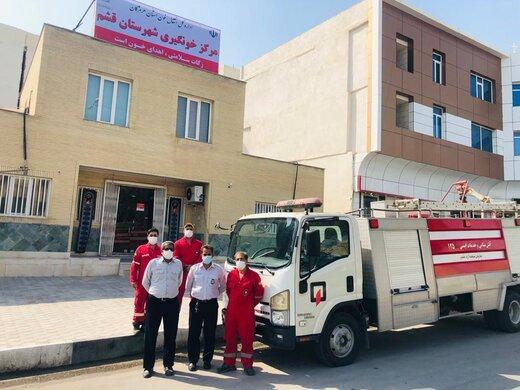 آتش نشانان منطقه آزاد قشم خون اهداء کردند / تصاویر