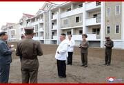 بازدید کیم و خواهرش از مناطق سیلزده در کره شمالی/عکس