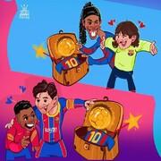 اینم تبریک ویژه مسی به ستاره جدید بارسلونا!