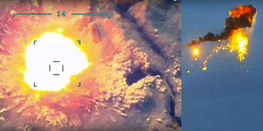 ببینید | حملات پهپادی جمهوری آذربایجان به تجمع نیروهای ارمنی
