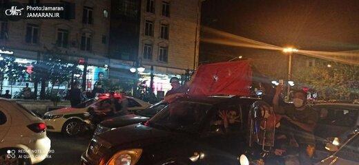 شادی بی پایان هواداران پرسپولیس پس از صعود به فینال لیگ قهرمانان آسیا، منیریه تهران