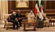 FM Zarif confer with New Emir of Kuwait