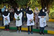 تصاویر | مراسم تشییع و بدرقه دومین شهید مدافع سلامت استان فارس