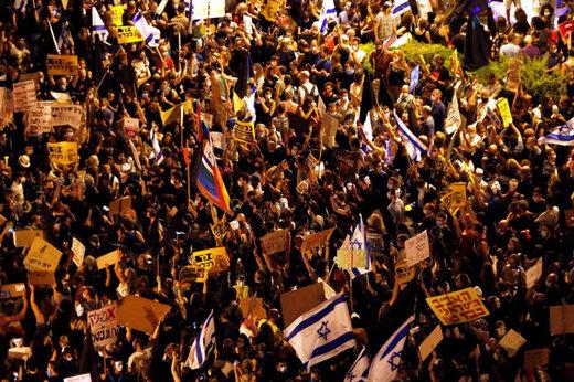 ببینید | تظاهرات 130 هزار اسرائیلی علیه نتانیاهو