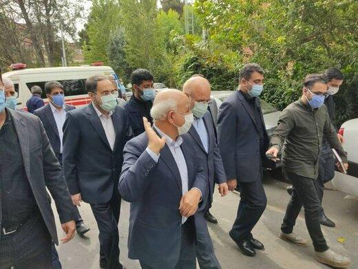 عکسی از حضور سرزده قالیباف در بخش کرونایی بیمارستان امام خمینی(ره)