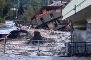 ببینید | تخریب باورنکردنی وحشتناک خانهها توسط سیل ویرانگر در فرانسه