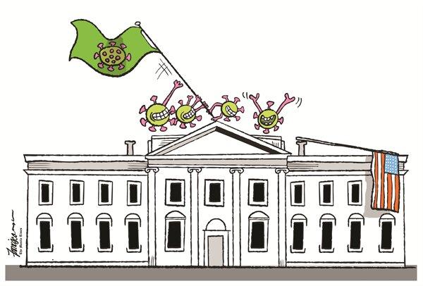 ببینید: کرونا بالاخره کاخ سفید رو تسخیر کرد!