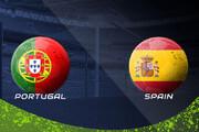 ببینید | سوت نیمه اول بازی پرتغال - اسپانیا قبل از دقیقه 45 به صدا در آمد