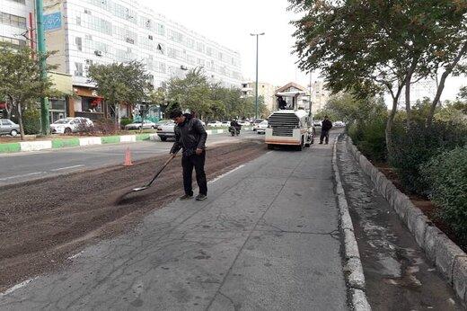 عملیات آسفالت ریزی اساسی ۳۵ متری باغمیشه شروع شد