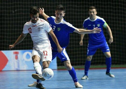 پیروزی دوباره تیم ملی فوتسال ایران مقابل ازبکستان