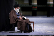 تصاویر | عزاداری اربعین حسینی در حسینیه امام خمینی با حضور رهبرانقلاب
