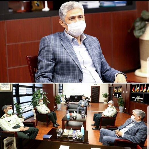 دیدار رییس پلیس فرودگاههای کشور با رییس هیئت مدیره و مدیرعامل شهر فرودگاهی امام خمینی(ره)