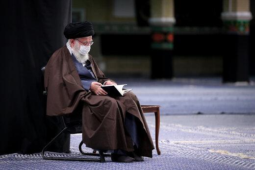 عکسی ویژه از رهبر انقلاب در روز اربعین