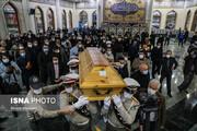 تصاویر | مراسم اقامه نماز بر پیکر استاد شجریان در بهشت زهرای تهران