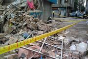 ببینید | لحظه وحشتناک ریزش آوار ساختمان در تهران