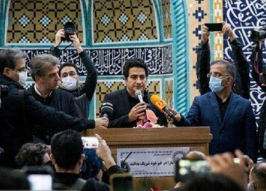 بازیگران سینما در مراسم تشییع استاد شجریان در بهشت زهرا/ عکس