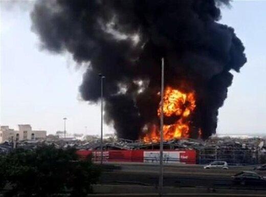 وقوع انفجار در انبار نفت کوره در بیروت