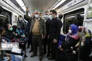 تصاویر | حضور سخنگوی دولت در میان مردم در متروی تهران