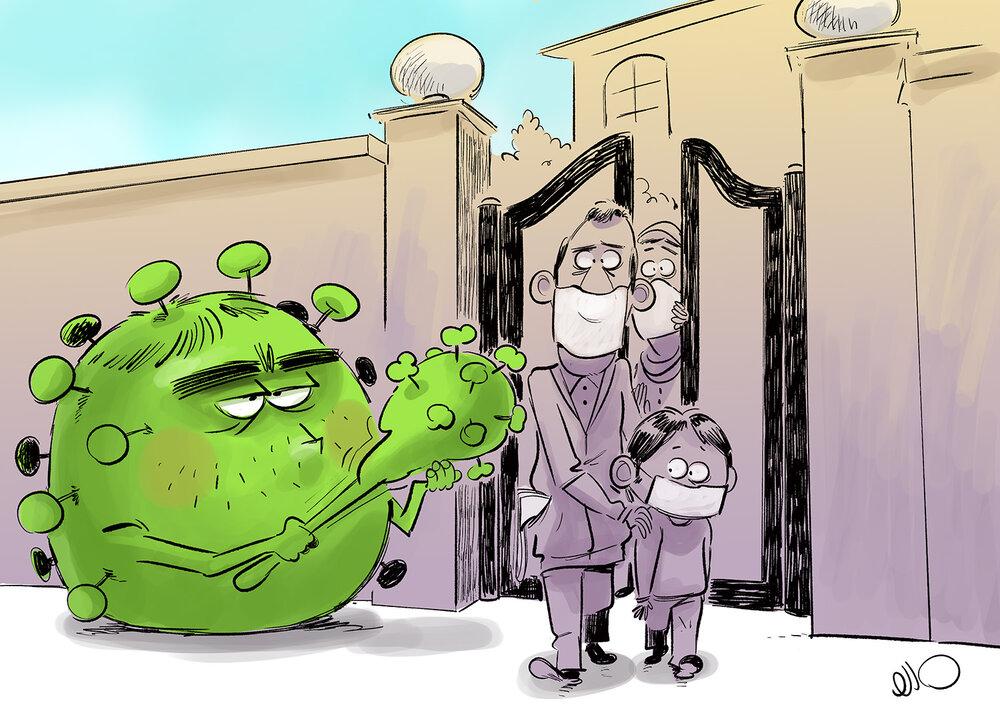 ببینید: کرونا از درب منازل منتظر ماست!