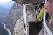 ببینید | جاده وحشتناک و دلهرهآور هیمالیا