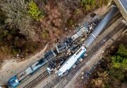 ببینید | جدیدترین تصاویر از خروج مرگبار قطار از ریل