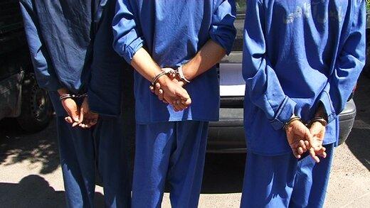 شگرد مردان مسلح برای سرقت خودرو/ سه ماهه سارقان دستگیر شدند