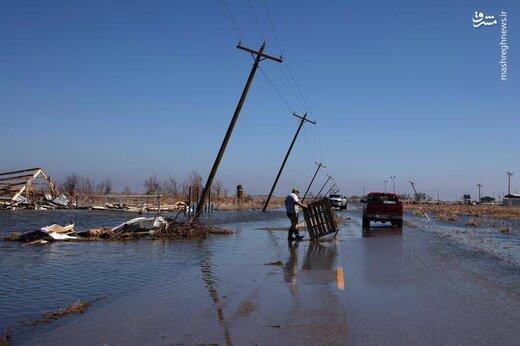 ببینید طوفان دلتا با آمریکا چه کرد