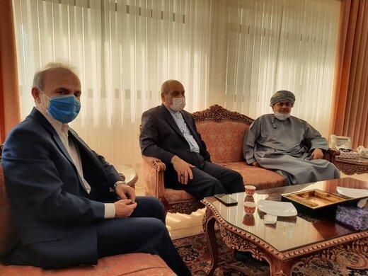 تاکید بر افزایش مناسبات تجاری و فرهنگی میان قشم و عمان
