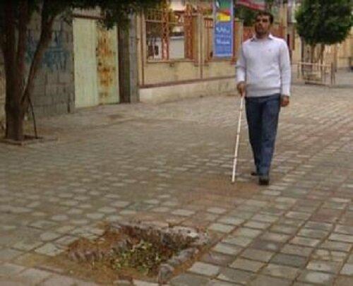 مناسب نبودن معابر مهمترین مشکل نابینایان در قزوین است