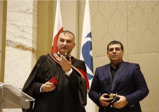 اعطای دکترای افتخاری اتحادیه بین المللی روئسای دانشگاه های جهان به دکتر ملک زاده