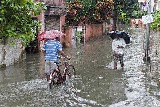 ببینید | بارش باران مرگبار در حیدرآباد هند