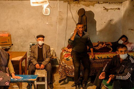 ببینید | تصاویری غمانگیز از مردمان شهر ترتر آذربایجان در پناهگاه جنگی