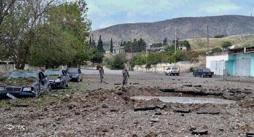 اصابت ۱۰ راکت دیگر جنگ قره باغ به خاک ایران /یک نفر مصدوم شد