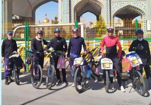 دوچرخه سواران همدانی تا مشهد رکاب زدند