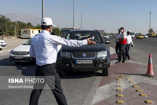 کنترل محدودیت عبور و مرور خودروها در ورودیهای کرج