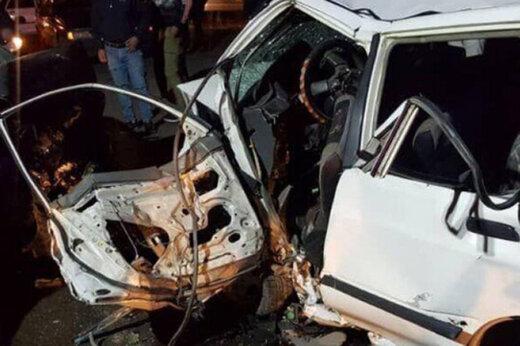 ببینید | تصادف شدید پژو 405 و کامیونت