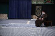 تصویری از رهبر انقلاب در مراسم عزاداری شهادت امام رضا (ع)