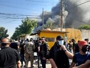 تظاهرات هواداران الحشد الشعبی علیه زیباری در بغداد/عکس